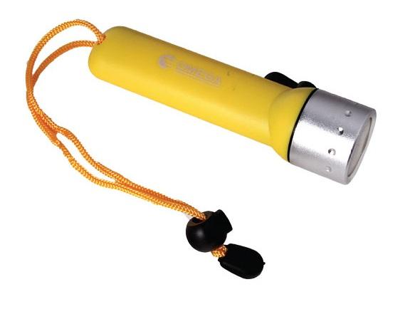 פנס צלילה 30 מטר צהוב OM-60DIV-Y